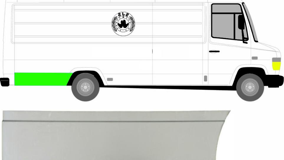 Hinten Reparaturblech Kotflügel / Rechts für Mercedes Vario 1996-2013