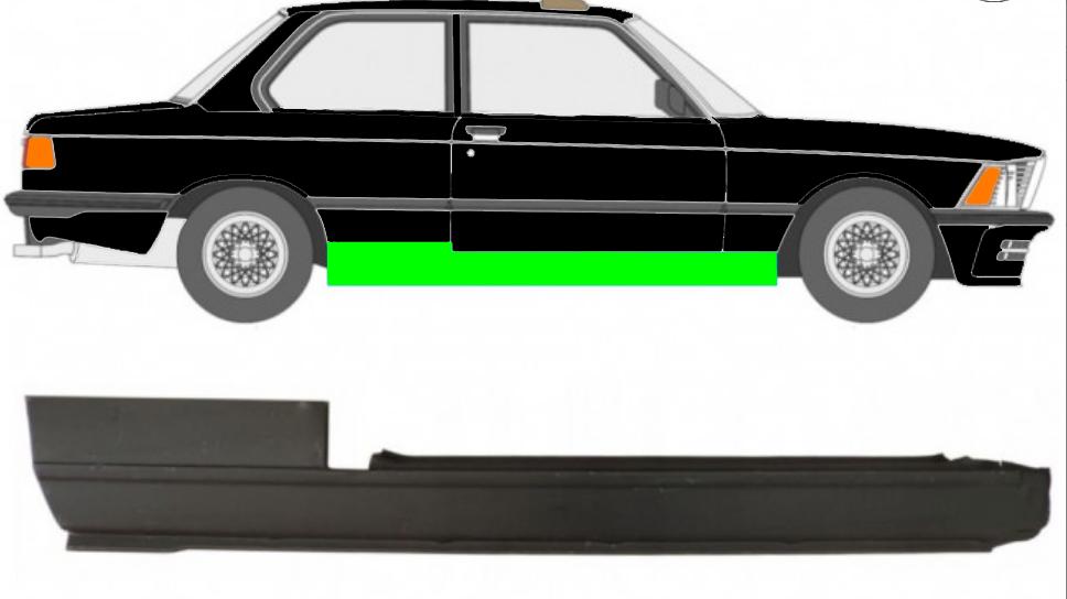 Voll Schweller Reparaturblech / Rechts für BMW 3 3er E21 1975-1984 2 Tür