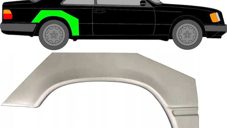 Radlauf Reparaturblech Kotflügel/ rechts für Mercedes E-Klasse W124 Coupe 84-96
