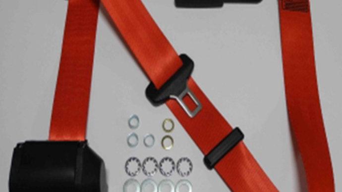 Dreipunkt Automatik Sicherheitsgurt,beige,12cm Laschenschloss für W124