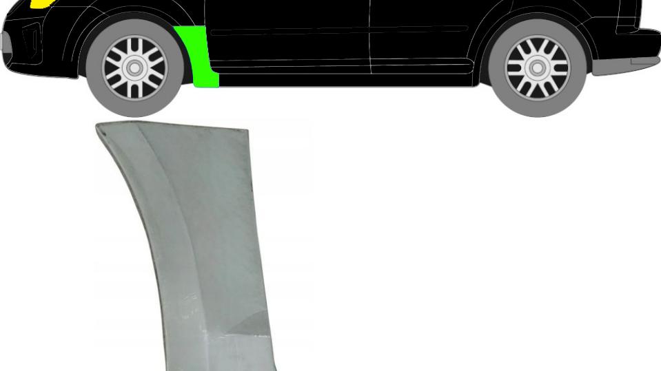 Vorne Kotflügel Reparaturblech / Links für Ford C-MAX 2007-2010
