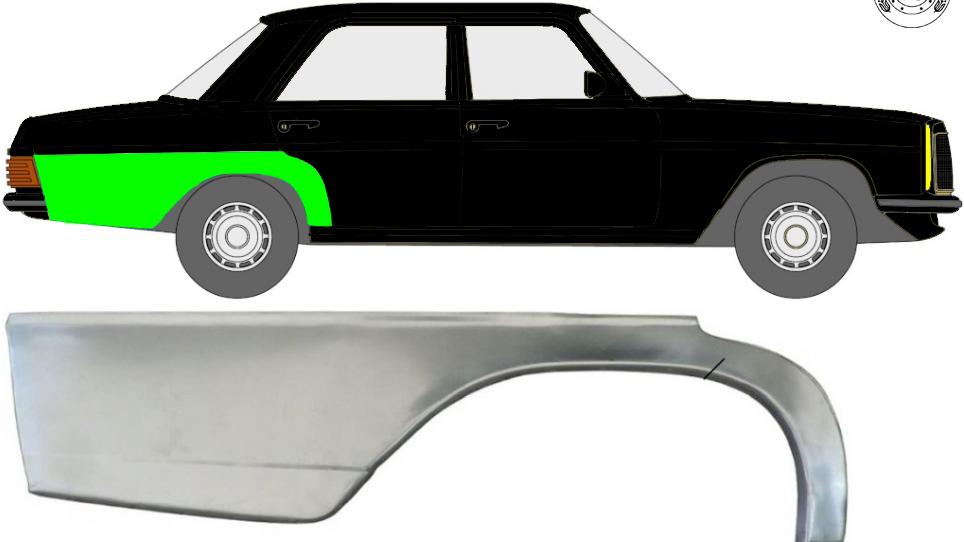 Hinten Kotflügel Reparaturblech Radlauf / Rechts für Mercedes W114 / W115 68-77
