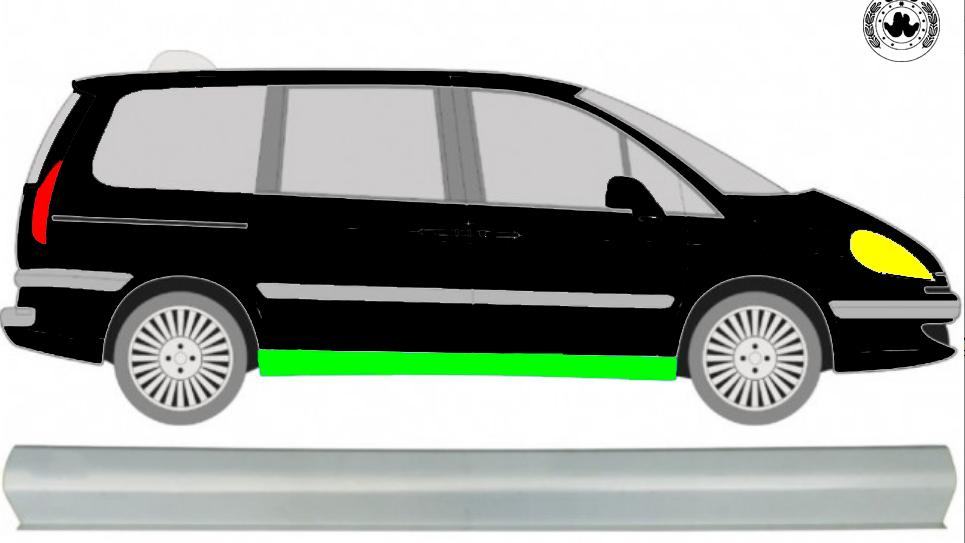 Schweller Reparaturblech / Rechts für Citroen C8 2002-2014