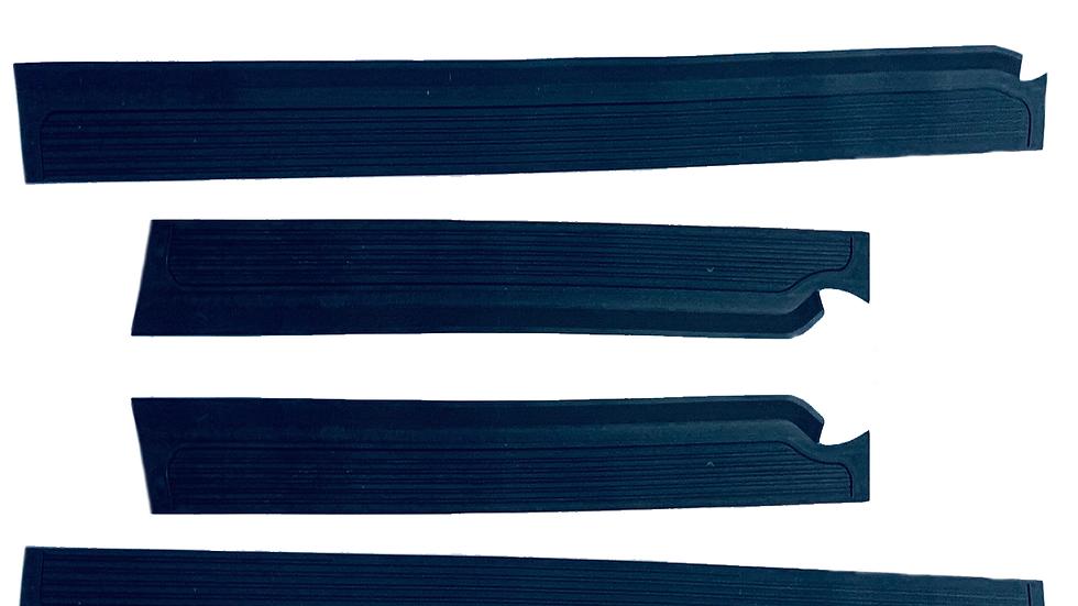 Gummi Einstiegsleisten Schweller Beläge für Mercedes W115/W114 /8 Blau