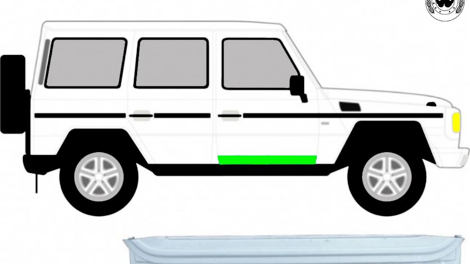 Vorne Tür Innen Reparaturblech / Rechts für Mercedes G-Klasse W460 W461 W463
