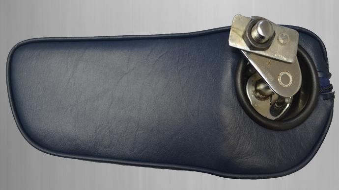 Mittelarmlehne  für Mercedes W114,W115,W123 Kunstleder, blau