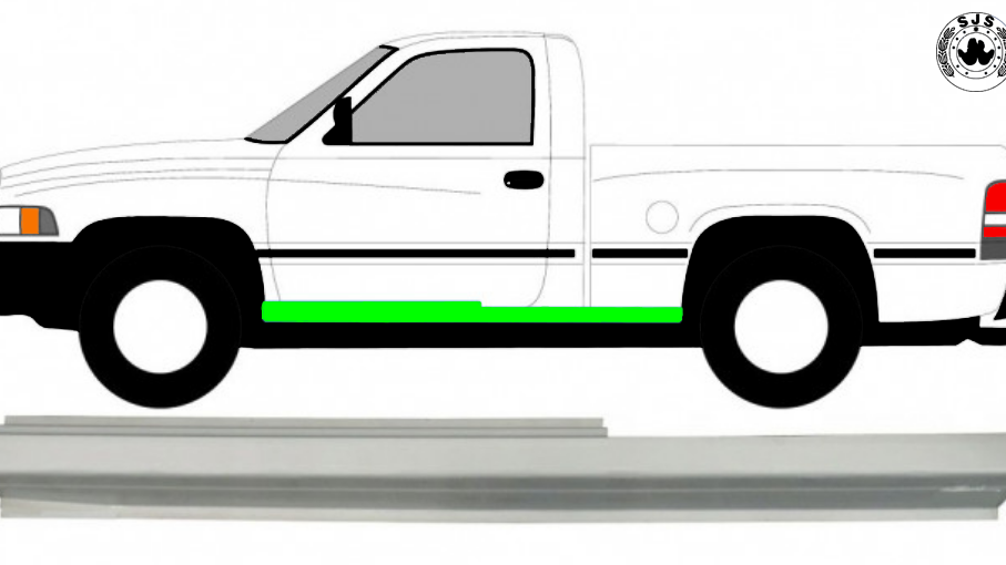 Tür Schweller Reparaturblech / Links für Dodge Ram 1993-2002