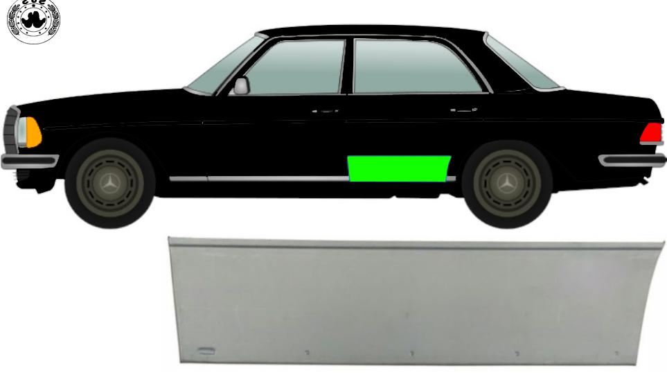 Hinten Tür Reparaturblech / Links für Mercedes W123 1975-1985