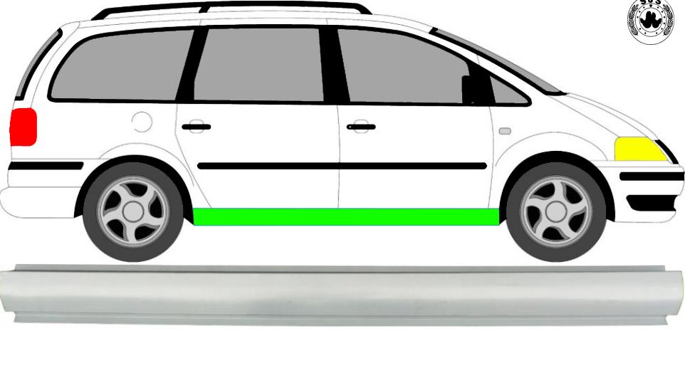 1x Schweller Reparaturblech / Links = Rechts für Ford Galaxy 2000-2010