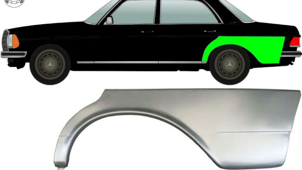 Hinten Kotflügel Reparaturblech / Links für Mercedes W123 Limo 1975-1985