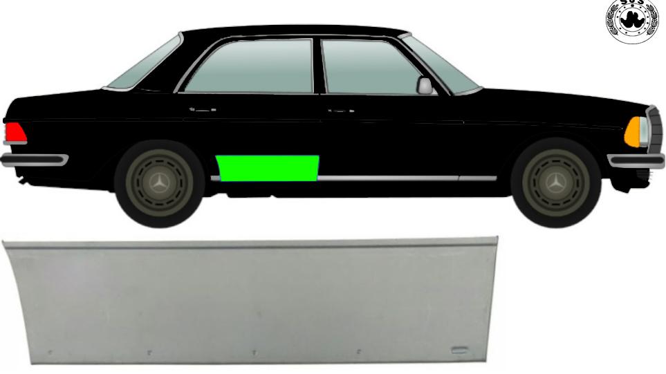 Hinten Tür Reparaturblech / Rechts für Mercedes W123 1975-1985