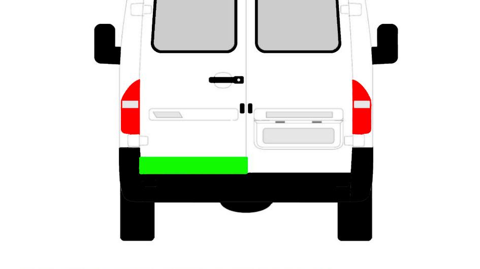 Niedrige hintere Tür Reparaturblech / Links für Mercedes Sprinter VW LT 95-06
