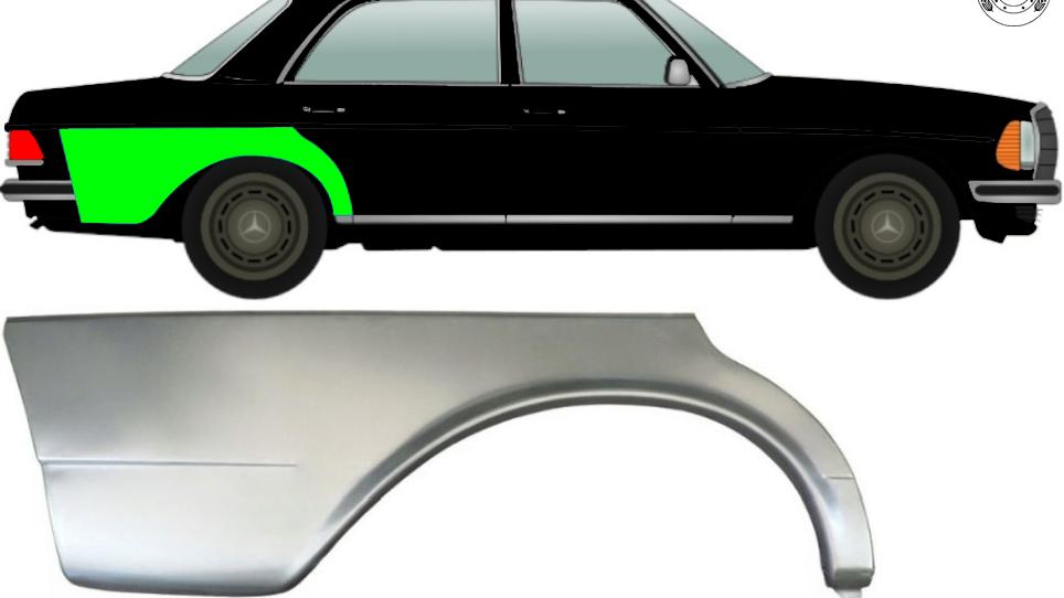 Hinten Kotflügel Reparaturblech / Rechts für Mercedes W123 Limo 1975-1985