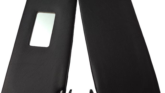 Sonnenblenden Sunvisor Links & Rechts für Mercedes W108 schwarz