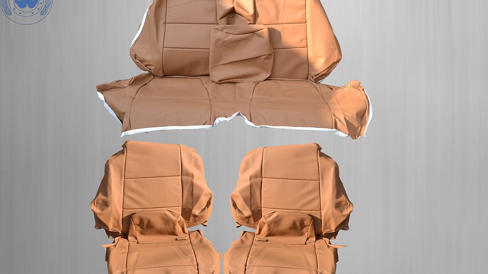 Sitzbezüge Bezüge passend für BMW 3er-Reihe E46 Cabrio , kamel dattel