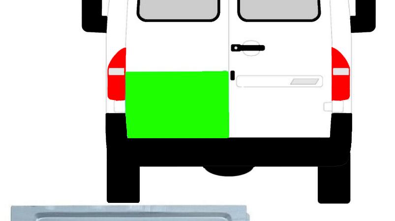 Hinten Tür Außen Reparaturblech / Links für Mercedes Sprinter VW LT 1995-2006