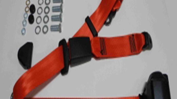Dreipunkt Automatik Sicherheitsgurt hinten,rot,30cm Bandschloss für W123