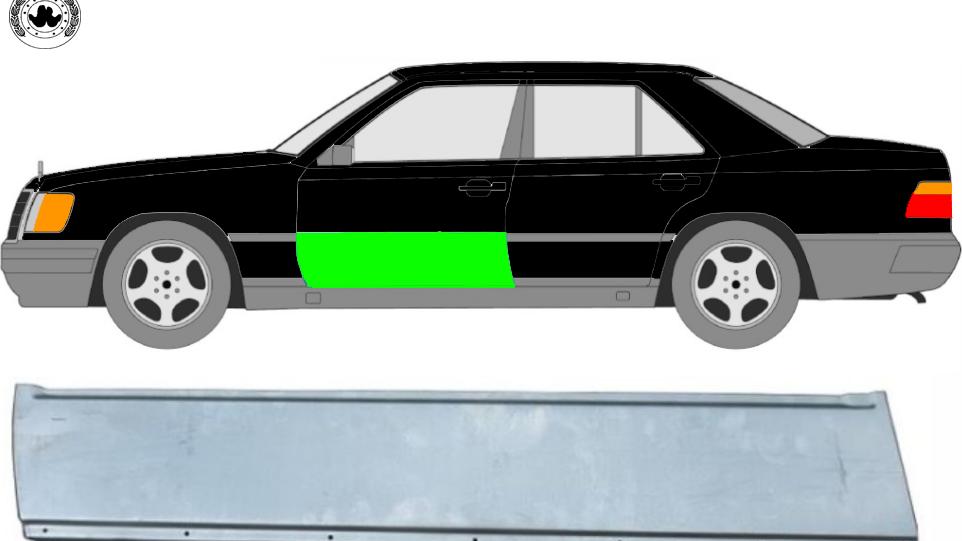 Vorne Tür Reparaturblech / Links für Mercedes W124 1984-1996