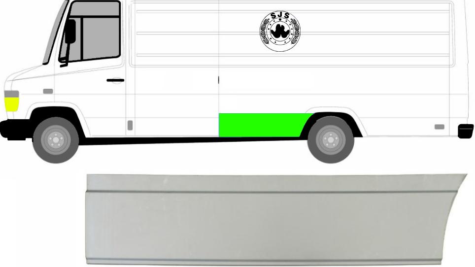 Hinten Kotflügel Seitenwände Reparaturblech / Links für Mercedes Vario 96-13