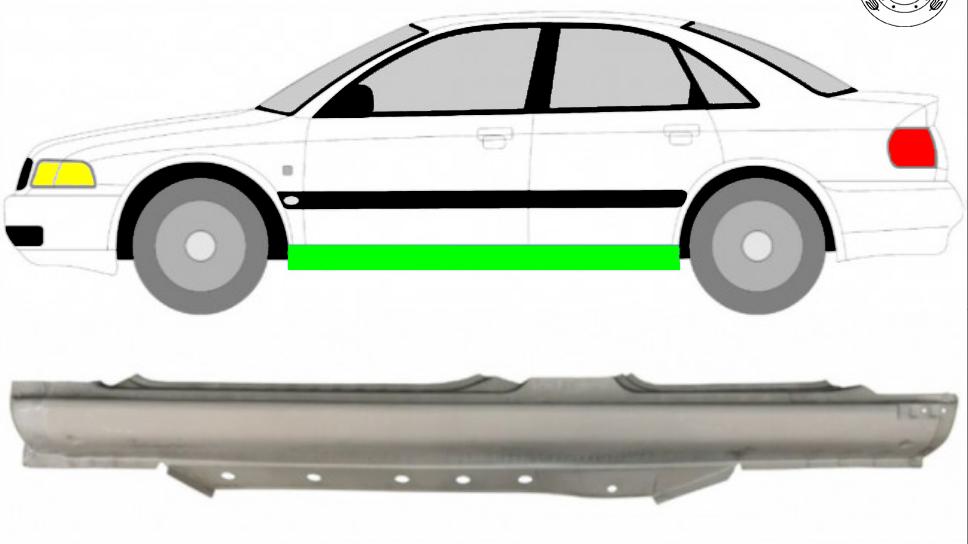 Voll Schweller Reparaturblech / Links für Audi A4 B5 1995-2001