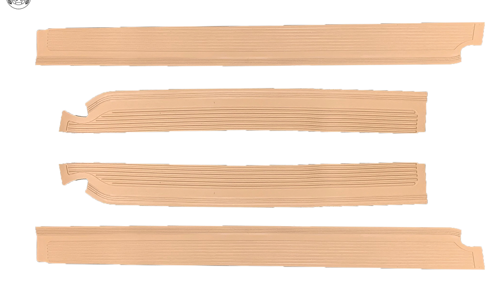 Gummi Einstiegsleisten Schweller Beläge für Mercedes W108 cream