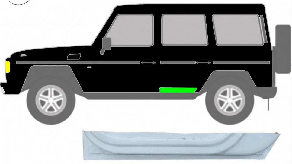 Hintere Tür Innen Reparaturblech / Links für Mercedes G-Klasse W460 W461 W463