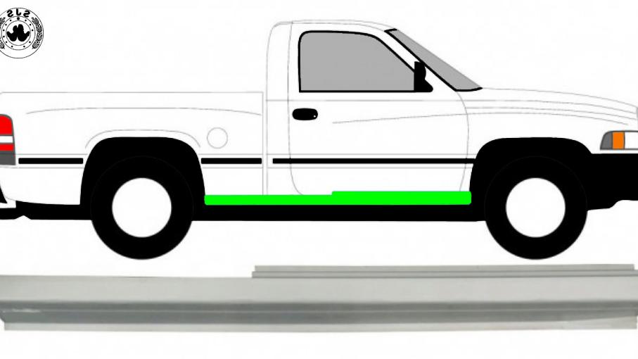 Tür Schweller Reparaturblech / Rechts für Dodge Ram 1993-2002