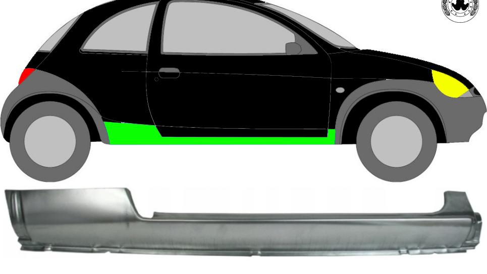Voll Schweller Reparaturblech / Rechts für Ford KA 1996-2008