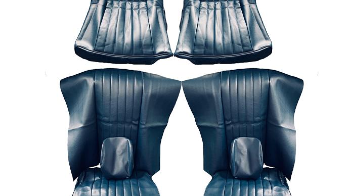 Sitzbezüge Bezüge passend für BMW E9 2800 Cs Baujahr 1968 -1971 , blau