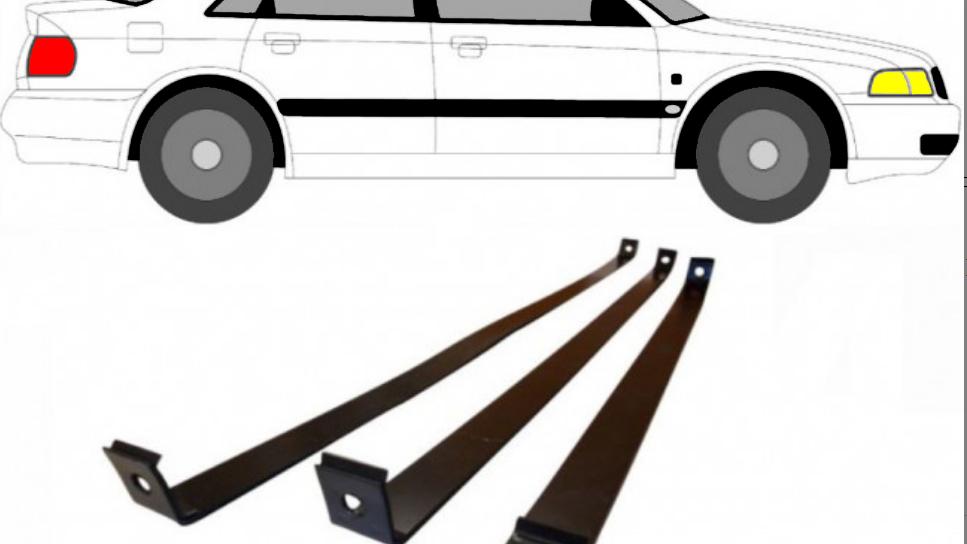 3x Tankband Tankbänder Tank Kraftstofftankbänder für Audi A4 B5 1995-2001