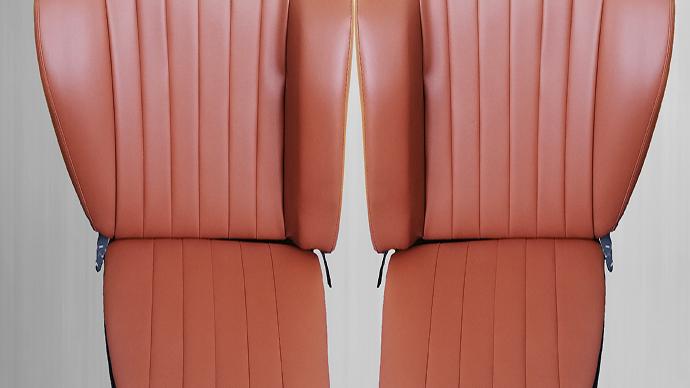 Rückbank Notsitze Kindersitze passend für Porsche 911 912 kamel dattel