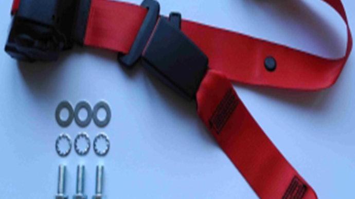 Dreipunkt Automatik Sicherheitsgurt hinten,rot mit 30cm Band für W110/W111/W112