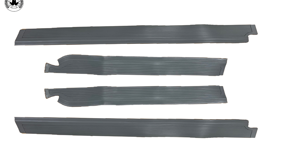 Gummi Einstiegsleisten Schweller Beläge für Mercedes W108 grau