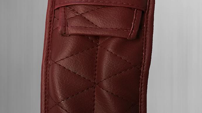 Tasche Etui für Verdeckhebel Verdeckgriffe rot für Mercedes SL R107