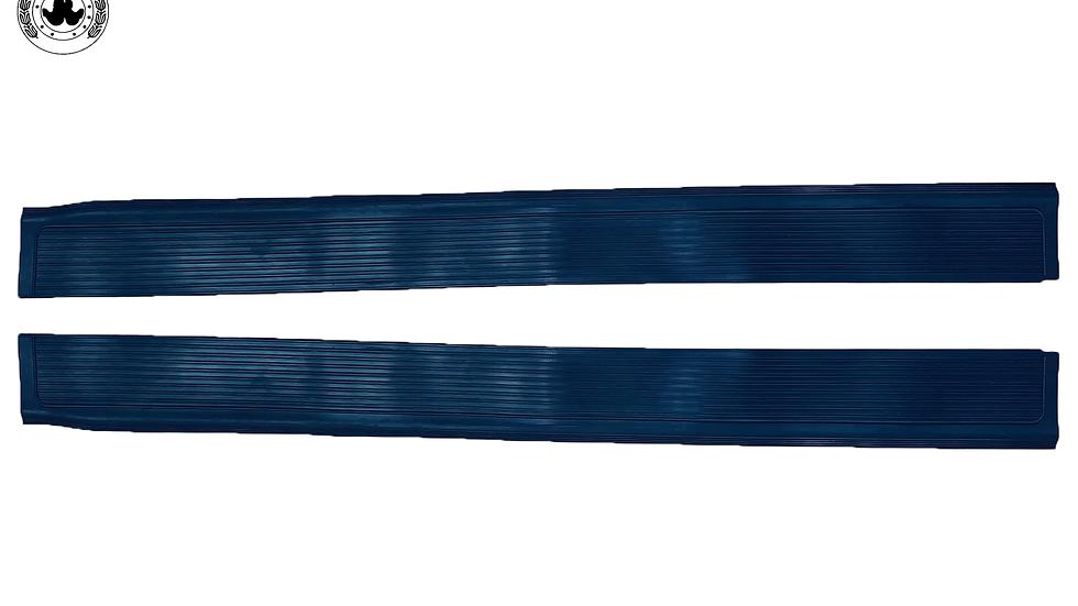 Gummi Einstiegsleisten Schweller für Mercedes SL107 R107/W107 blau