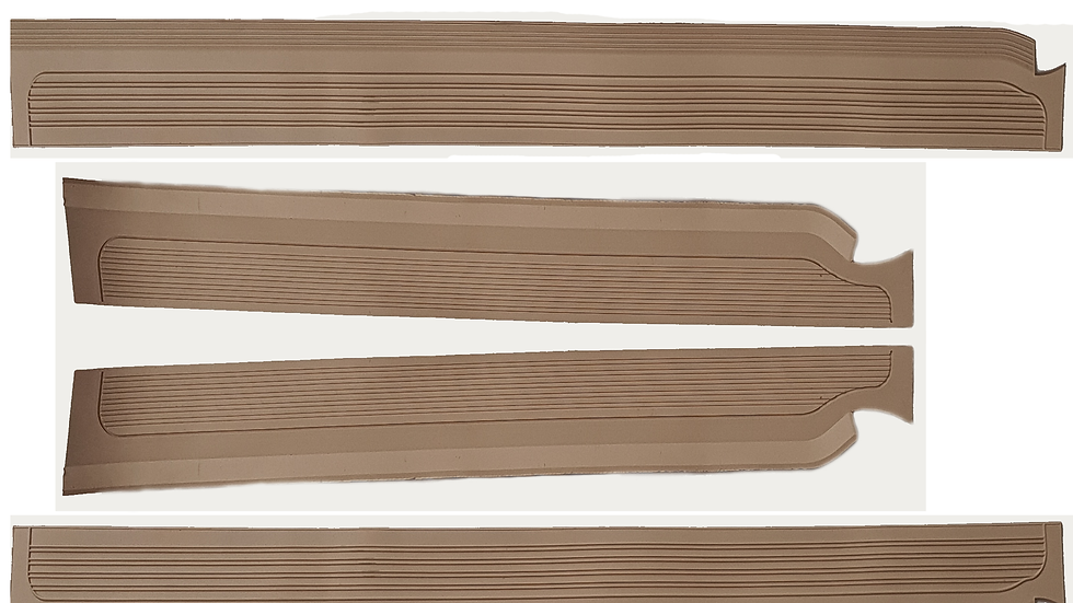 Gummi Einstiegsleisten Schweller Beläge für Mercedes W115/W114 /8 Cream