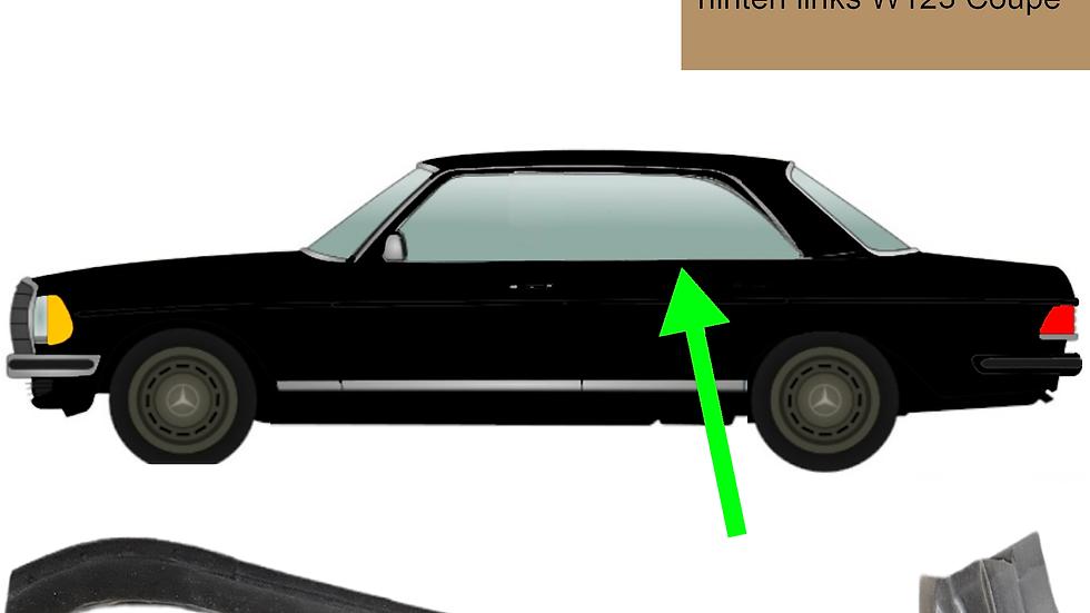 Abdichtschiene Seitenfenster hinten links für Mercedes W123 Coupé