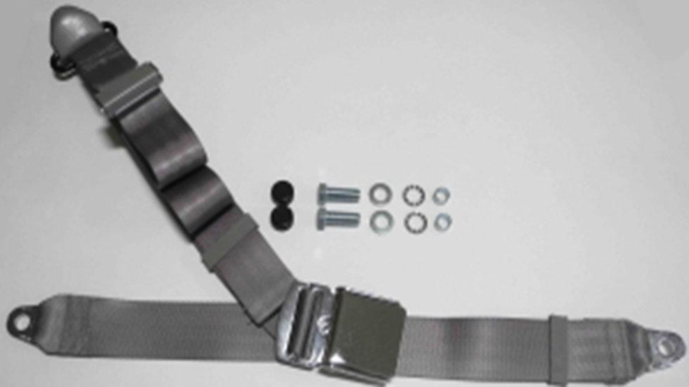 Chrom-Retro Dreipunkt Statikgurt mit grauem Gurtband für Mercedes W113 Pagode