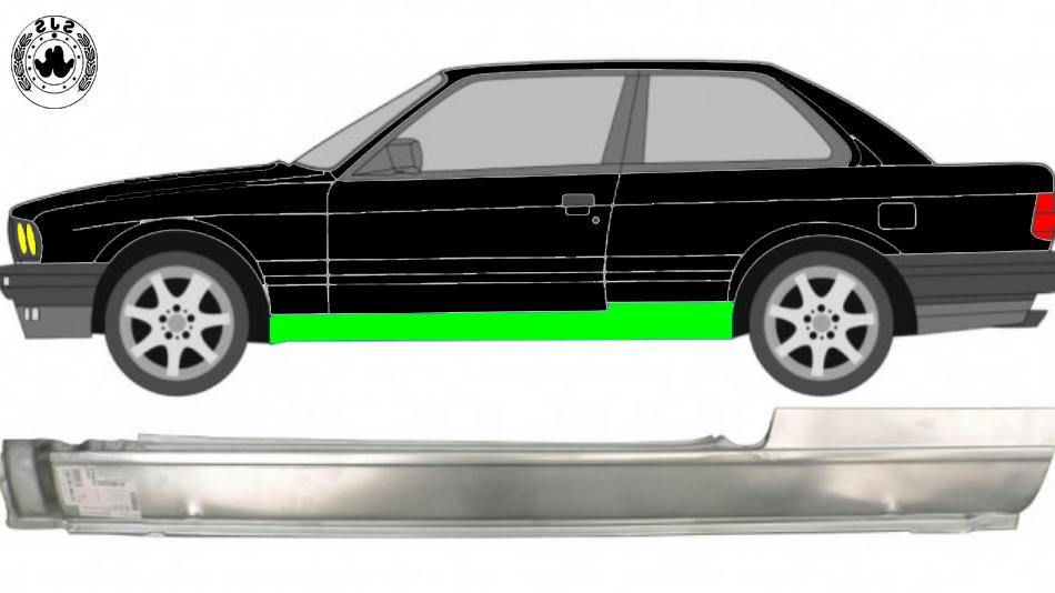 Voll Schweller Reparaturblech / Links für BMW 3er 3 E30 1982-1994 2 Tür