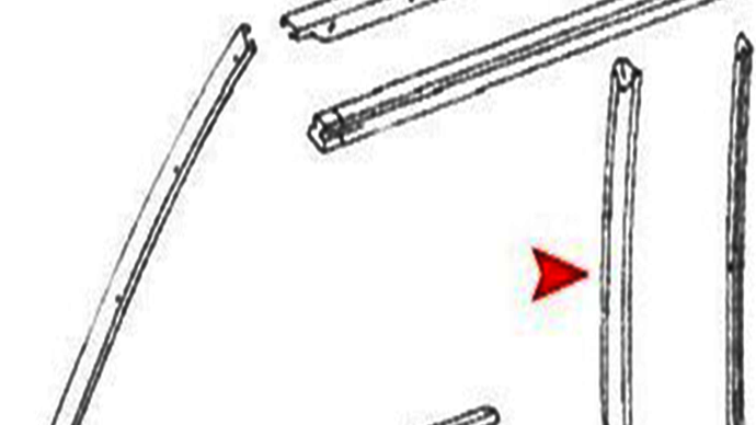 Dichtung Softtop Verdeck Heckscheibendichtung rechts  für Mercedes SL R107 W107