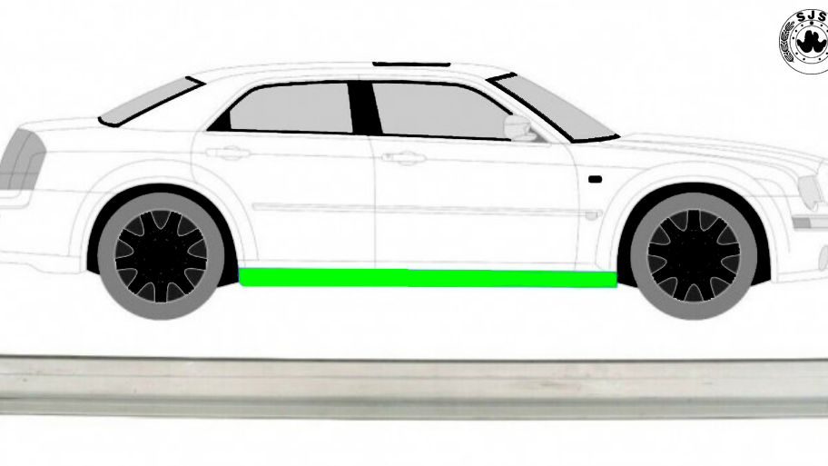 Schweller Reparaturblech / Rechts = Links für Chrysler 300C 04-11 Limo und Kombi
