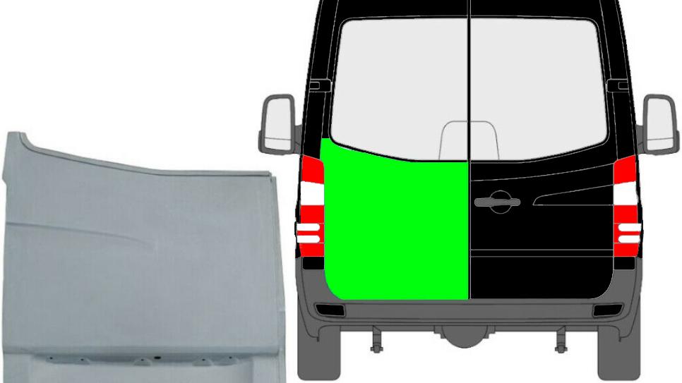 Hinten Tür Reparaturblech Außen / für Links Mercedes Sprinter VW Crafter 06-
