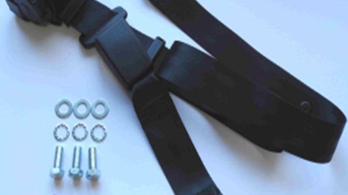 Dreipunkt Automatik Sicherheitsgurt hinten,schwarz,30cm Bandschloss,für W116
