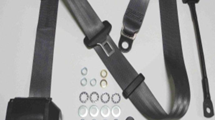 Dreipunkt Automatik Sicherheitsgurt,grau,30cm für W110,W111,W112 Cabrio