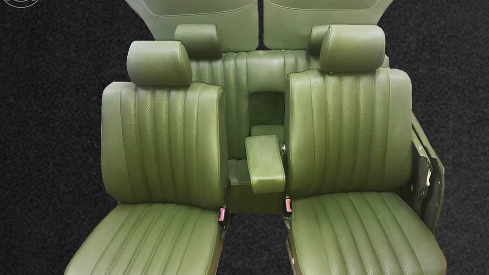 Sitzbezüge für Mercedes,W123 Limousine 1/2/3.Serie grün, Top Qualität