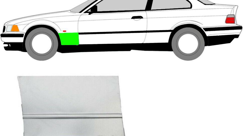 Vorne Kotflügel Reparaturblech / Links für BMW 3er E36 Coupe 1992-1999