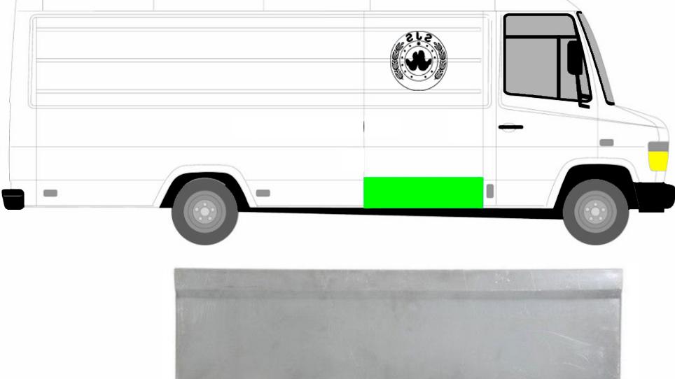1x Schiebetür Außen Reparaturblech / Rechts = Links für Mercedes Vario 1996-2013
