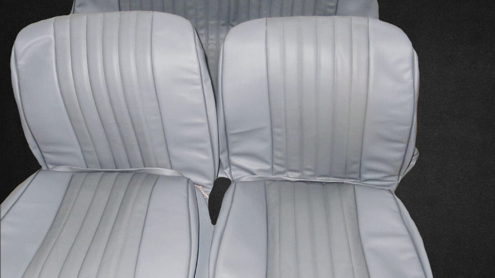 Sitzbezüge Bezüge für VW Käfer 1300 - 1303 Limousine, grau mit Perforation