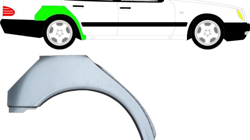 Radlauf Reparaturblech Kotflügel / Rechts für Mercedes E-Klasse W210 1995-2003