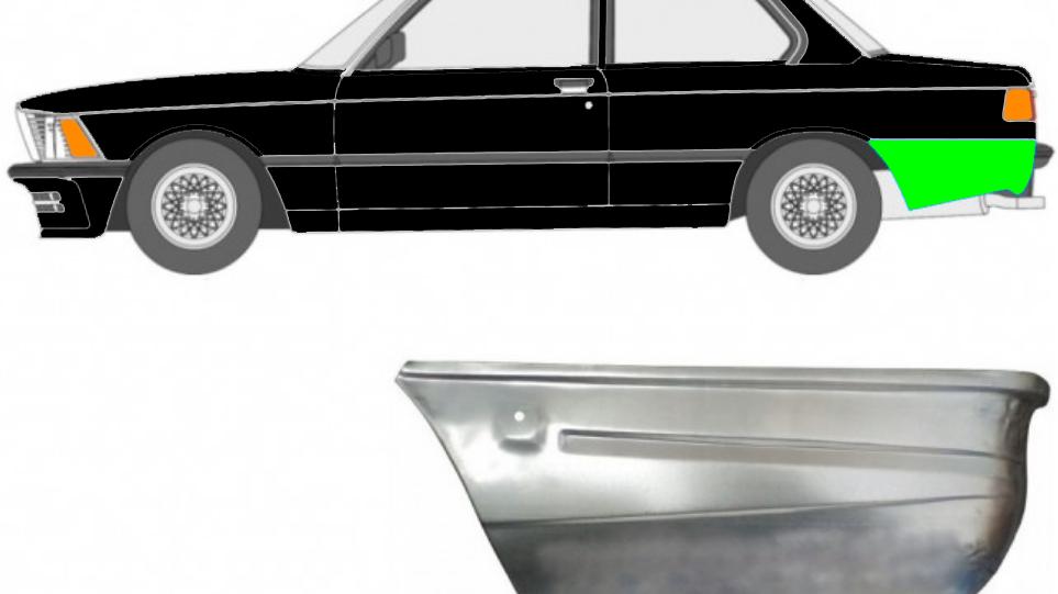 Hinten Reparaturblech / Links für BMW 3 3er E21 1975-1984 2 Tür